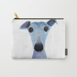 Nosey Dog Whippet Greyhound ' BLUEBELL ' by Shirley MacArthur Carry-All Pouch