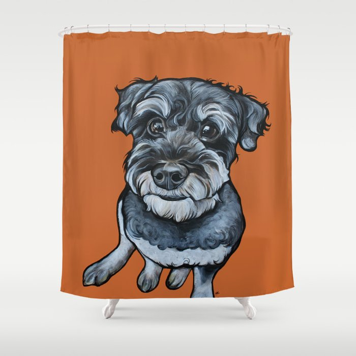 Frankie the Schnoodle Shower Curtain