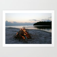 Lonely Fire Art Print