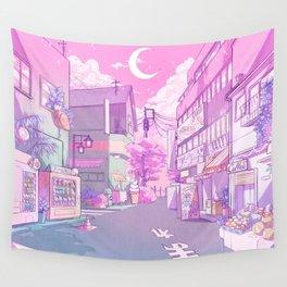 Pink Moonlight Wall Tapestry