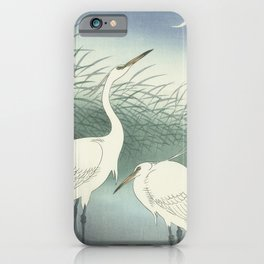 Herons in Shallow Water, Ohara Koson, 1934 iPhone Case