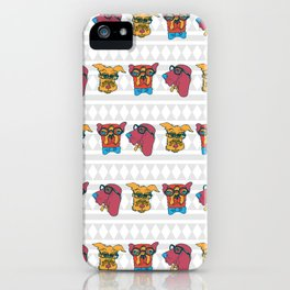 Geek Chic Dogs iPhone Case