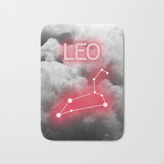 Neon Leo Constellation Bath Mat
