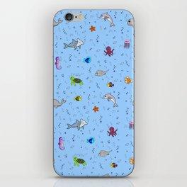 Sea creature pattern iPhone Skin