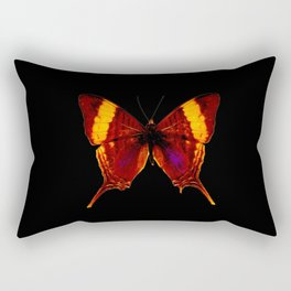 Butterfly - Vibrant Glow - Orange Brown Yellow Black Rectangular Pillow