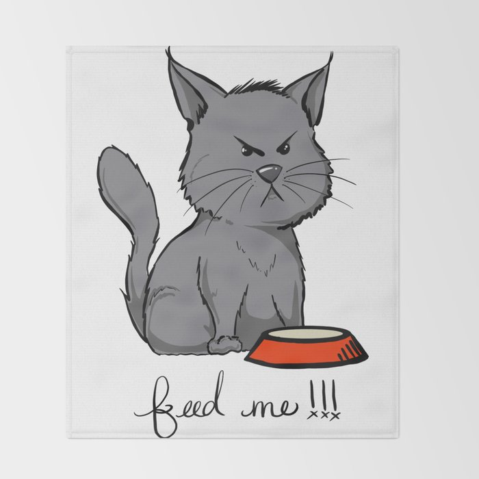 Oliver the cat. Throw Blanket