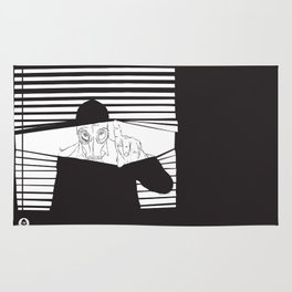 Man in the Mask -Watching your Walls Rug