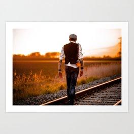 get on track Art Print