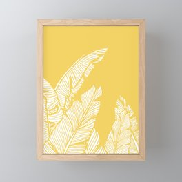 Banana Leaves on Yellow #society6 #decor #buyart Framed Mini Art Print