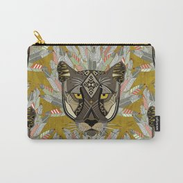 native mountain lion gold Carry-All Pouch