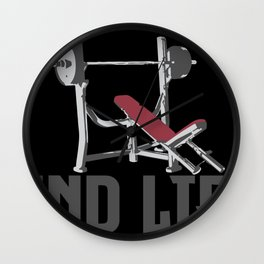 Fuck Stress and Lift Wall Clock