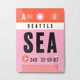Luggage Tag A - SEA Seattle Tacoma USA Metal Print