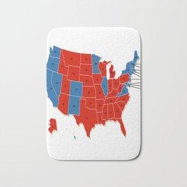 Donald Trump 45th US President - USA Map Election 2016 Bath Mat
