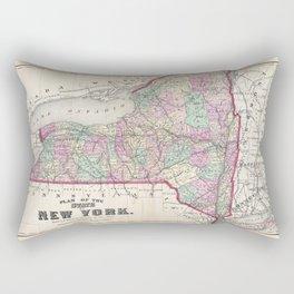 Historical Vintage Map of New York Rectangular Pillow