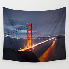 Golden Gate Bridge at Night | San Francisco, CA Wall Tapestry