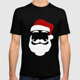Hipster Santa Claus With Sunglasses Funny Gift for Christmas T-shirt