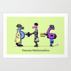 Discrete Mathematics Art Print