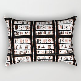 Natural Black pattern Rectangular Pillow