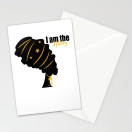 I Am The History Black History Month Stationery Cards