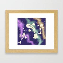 Star Catching Fish Framed Art Print