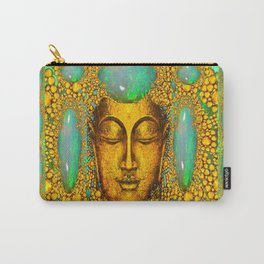 JADE GREEN PRECIOUS FIRE OPAL GEMS GOLD BUDDHA Carry-All Pouch