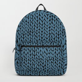 Hand Knit Niagra Blue Backpack