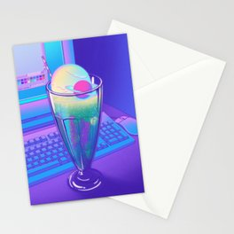 Space Cream Soda Stationery Cards
