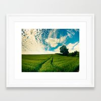 england Framed Art Prints featuring England by Matt Greenland