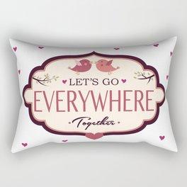 Let's Go! Rectangular Pillow