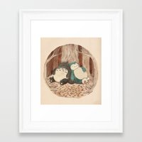 snorlax Framed Art Prints featuring Best Friends Forevah by Najmah Salam