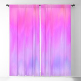Hand painted pink lilac blue watercolor brushstrokes Blackout Curtain