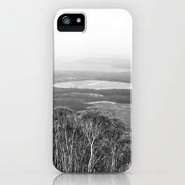 Mount Macedon Lookout in Black and White iPhone Case