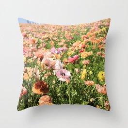 The Flower Fields Throw Pillow