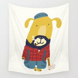 Rugged Roger - the lumberjack Wall Tapestry