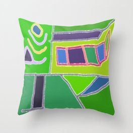 Blocks and Colors Throw Pillow