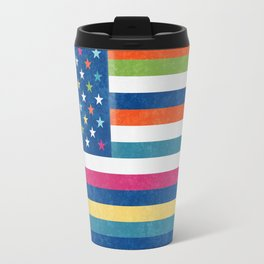 American flag trendy colors 2017 Travel Mug