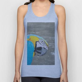 Oscar the Macaw Parrot Unisex Tank Top