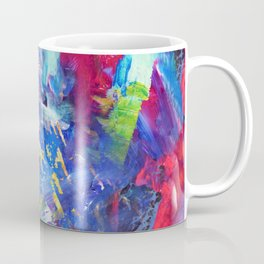 Blue Paint Splash Coffee Mug