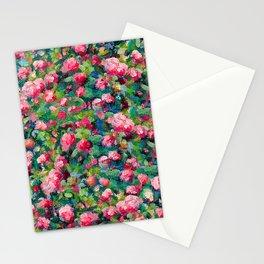 Rose Romance Pattern Stationery Cards