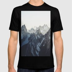 Mountain Mood MEDIUM Black Mens Fitted Tee