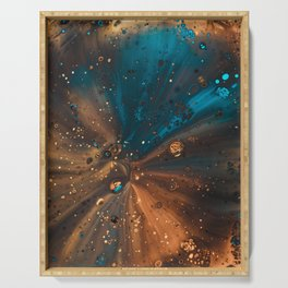 Lucid Galactic Abstract Painting Serving Tray
