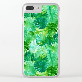 Welcome to the Jungle Palm Clear iPhone Case