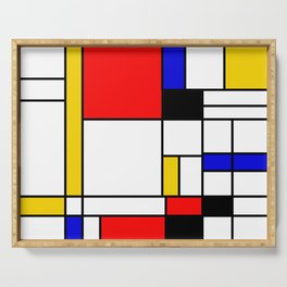Bauhouse Composition Mondrian Style Serving Tray