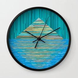 Mountain Lake Abstract Wall Clock
