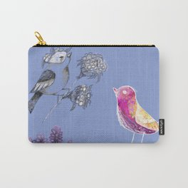 Lavender Birds Carry-All Pouch
