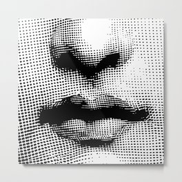Lina Cavalieri Nose & Mouth Metal Print