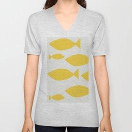 fish pattern Unisex V-Neck