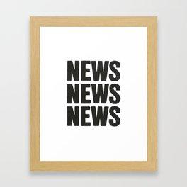 News News News Framed Art Print