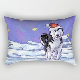 Husky Christmas Rectangular Pillow