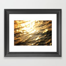 Golden Paradise Framed Art Print